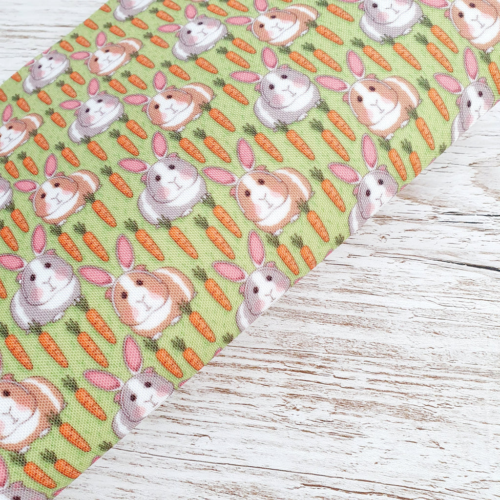 Guinea Rabbits -  Premium Felt Backed Fabric - Honey Bee Craft Store