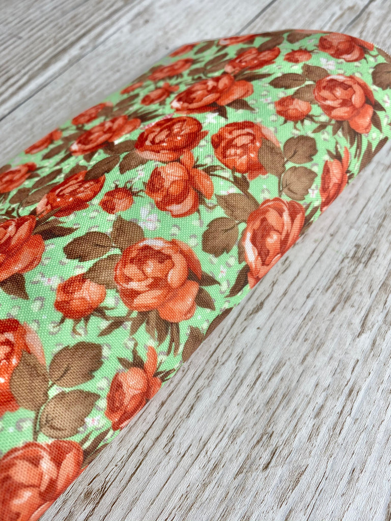 Blooms with a twist- Pastel Green - Premium Felt Backed Fabric - Honey Bee Craft Store