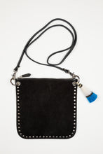Hippie Handbag / Black Suede
