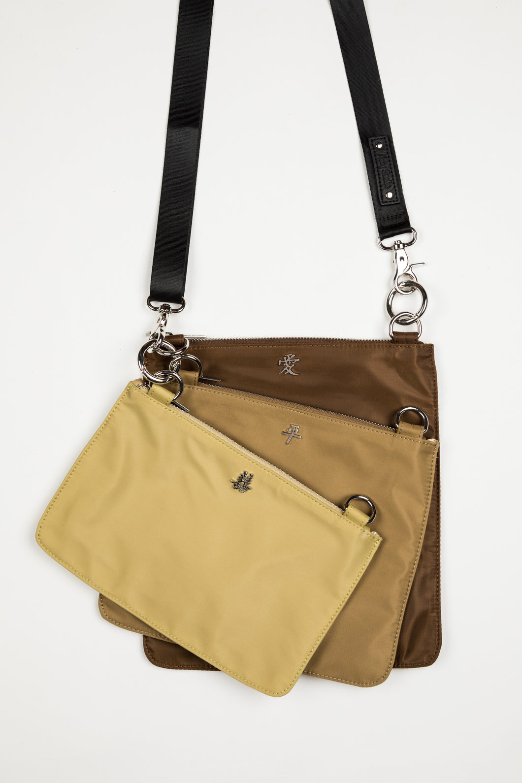 Sonny Triple Nylon Handbag| Cafe Combo