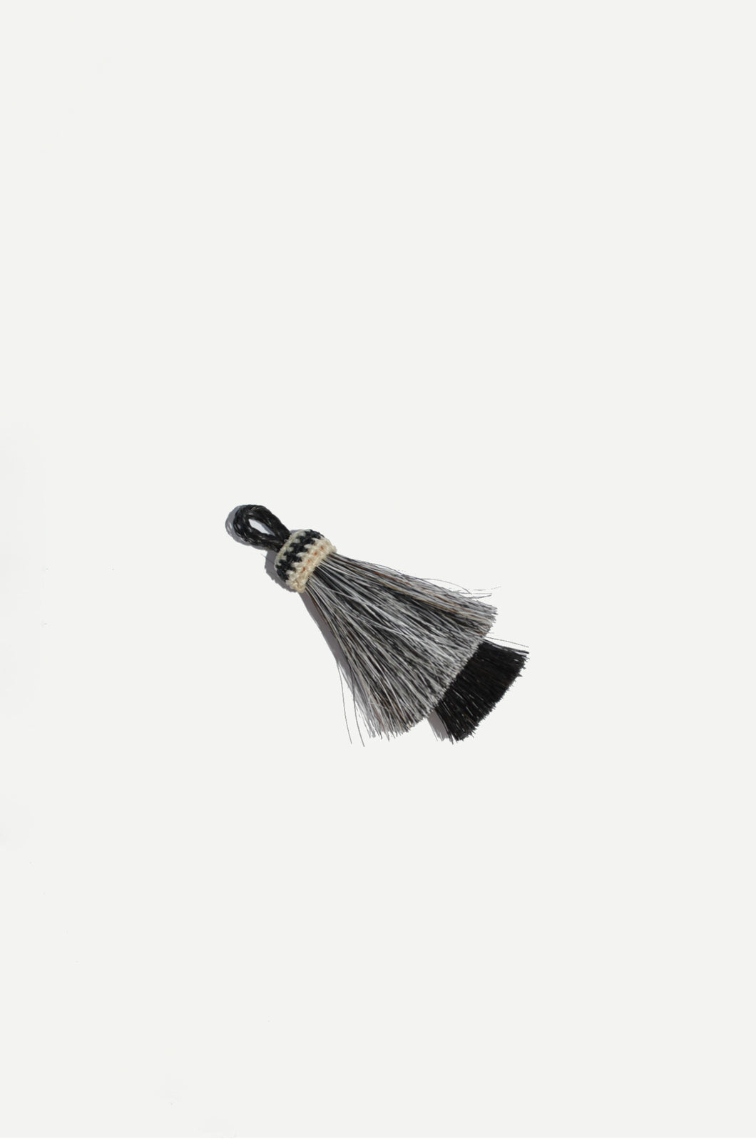 Horse Hair Tassel Grey/Black