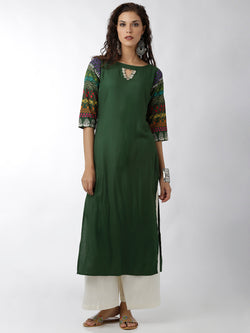 Straight Embroidered Kurta