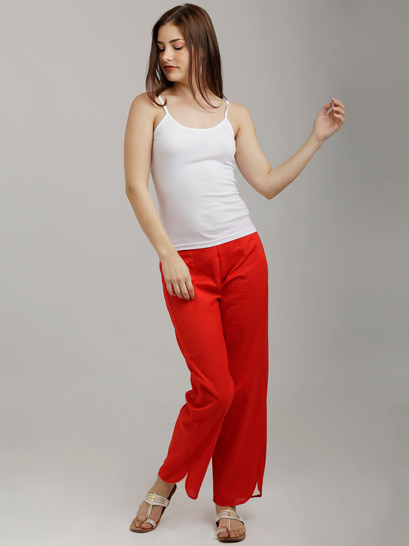 Red Parallel Pants