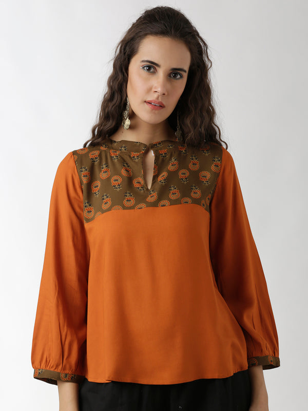 Orange Brown Top