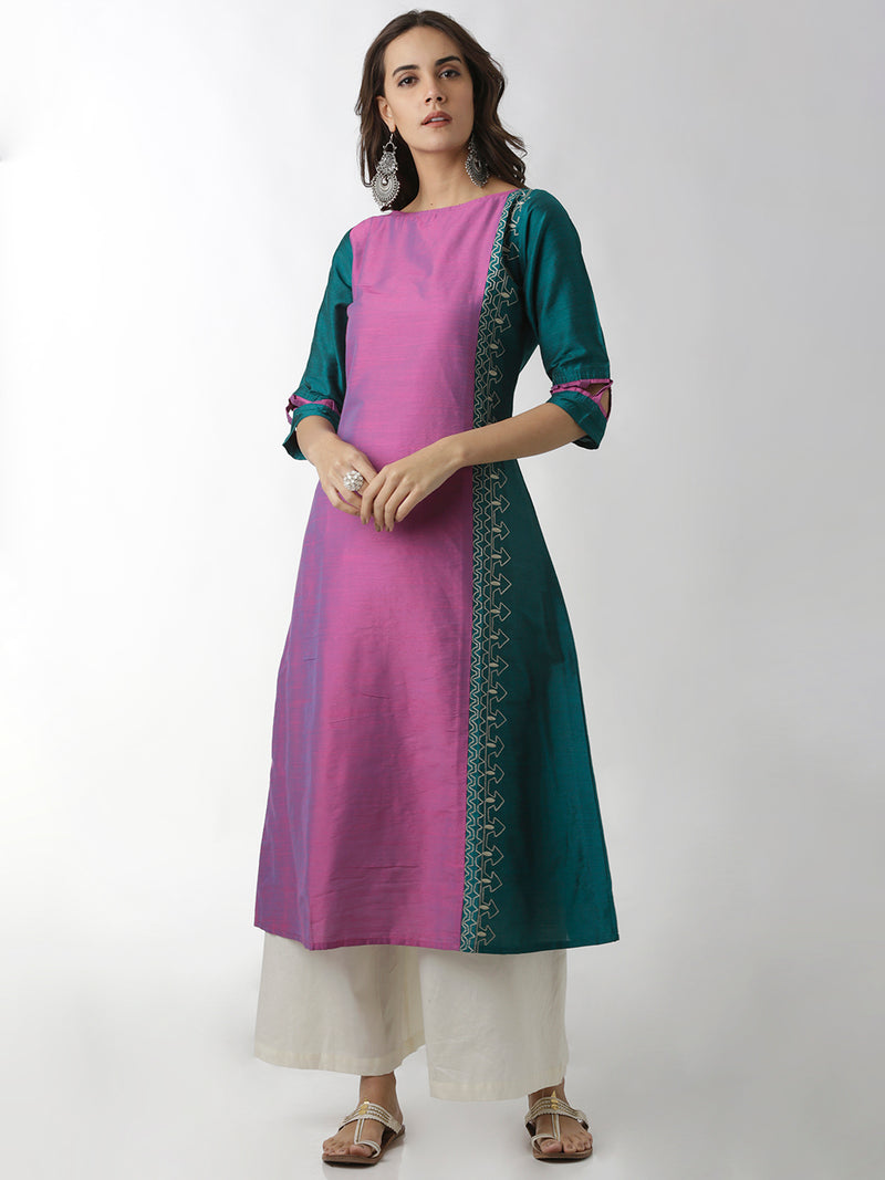 Embroidered Princess Panel Kurta