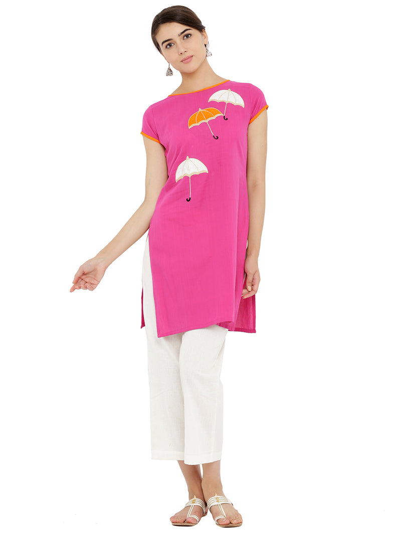 Umbrella Embroided Pink Tunic