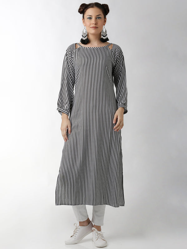 Black & White Kurta