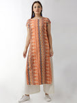 Breya Simple Straight Orange Printed Kurta