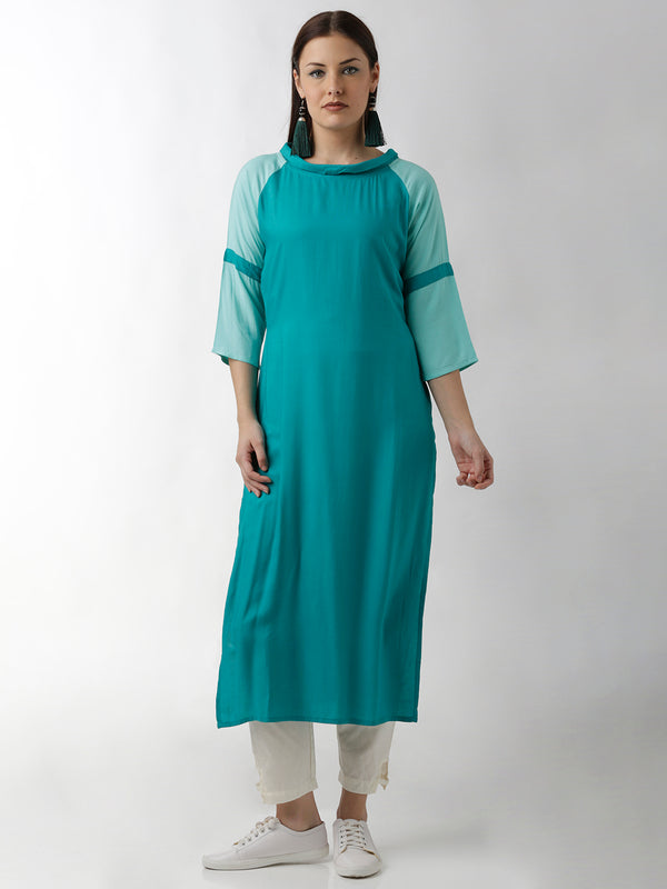 Sea Blue Kurta