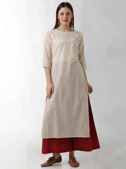 Stripped Straight Kurta