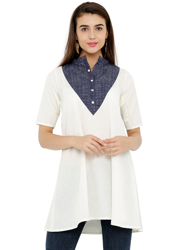 Formal Wear Flared White Tunic