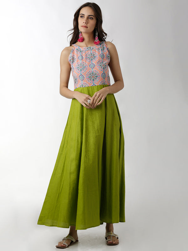 Multicoloured Maxi Gown
