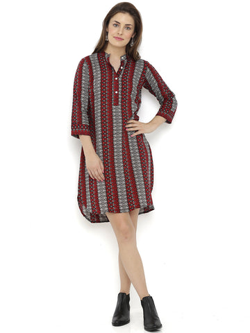 Breya Red Squash Print Dress