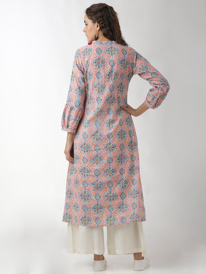 Multicoloured Floral Printed Dress