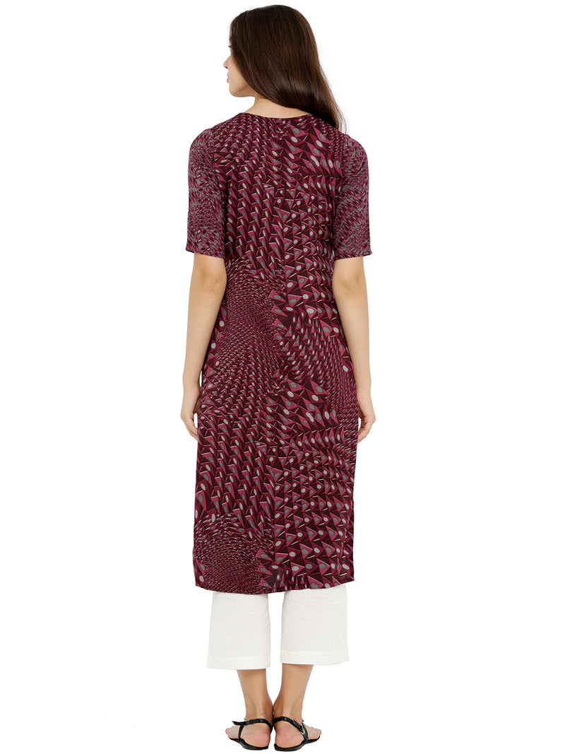 Abstract Print Straight Kurta