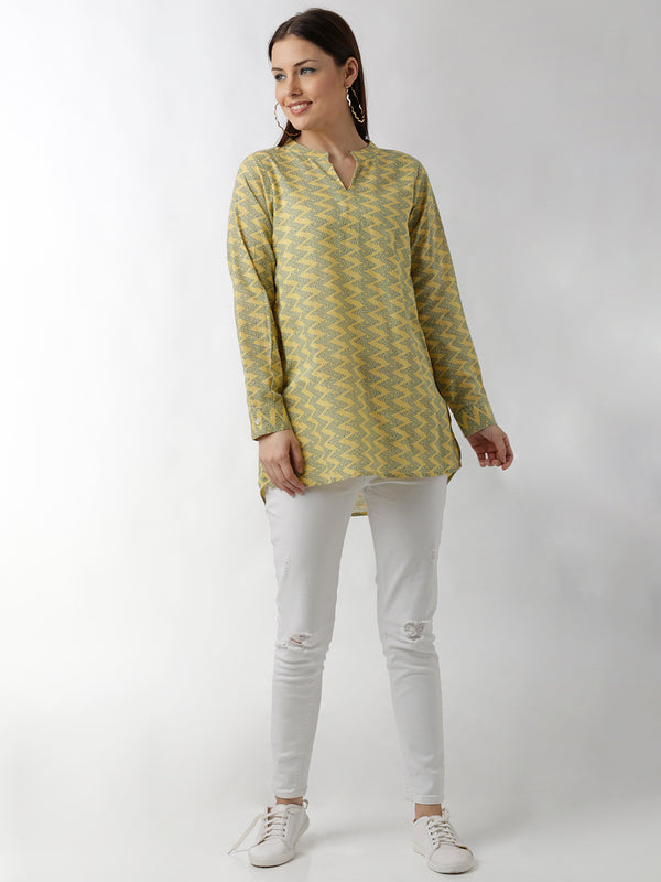 Printed Long Top