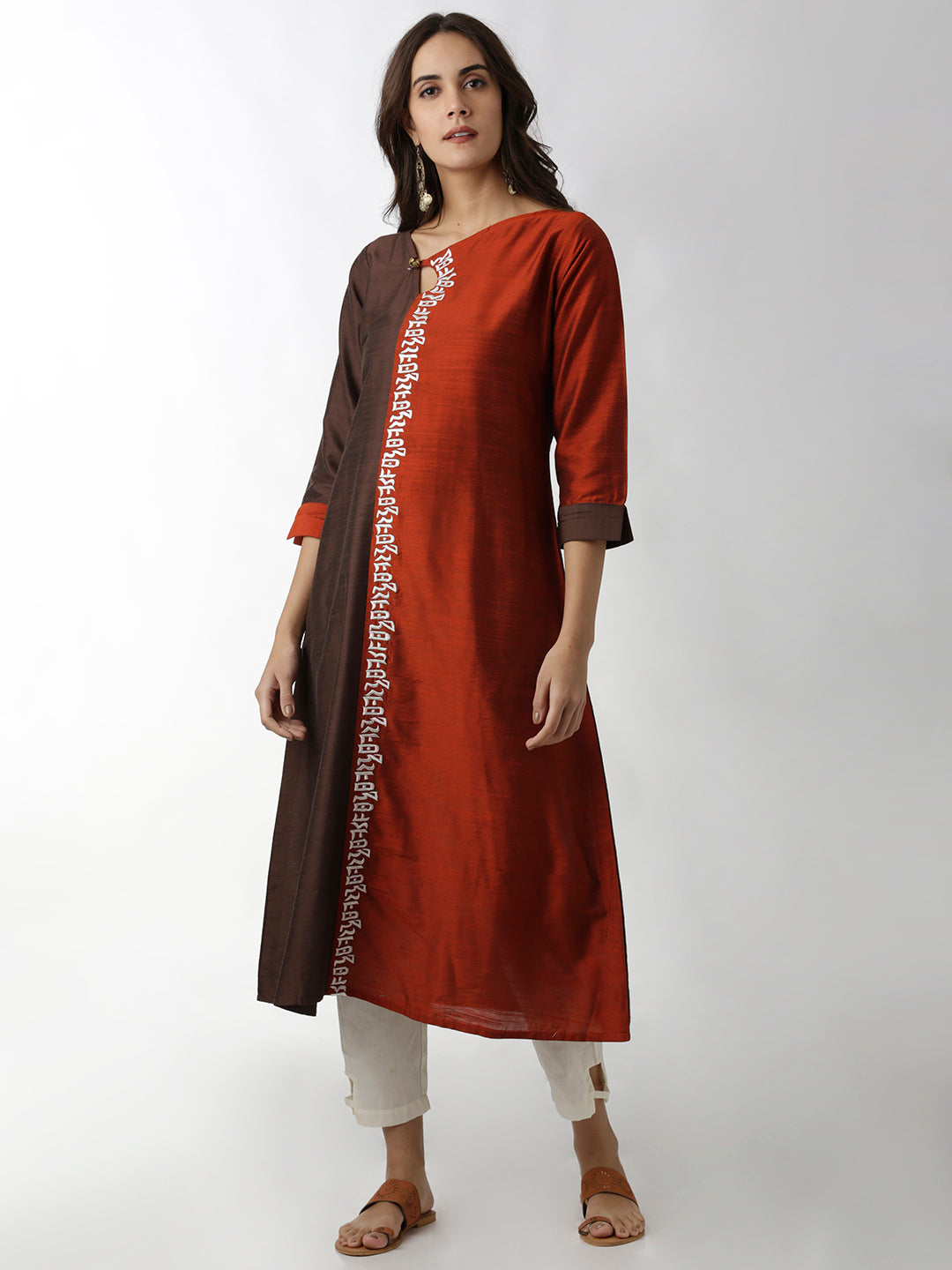 Breya Embroidered A-Line Multicolour Kurta