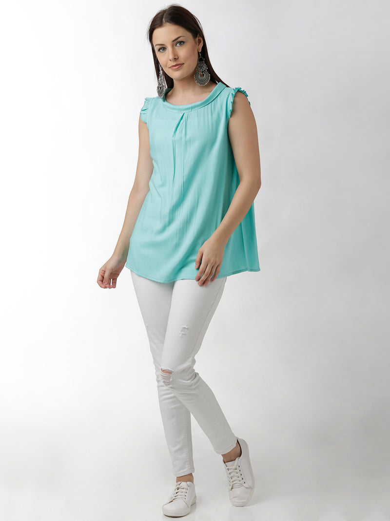 Solid Light Blue Top