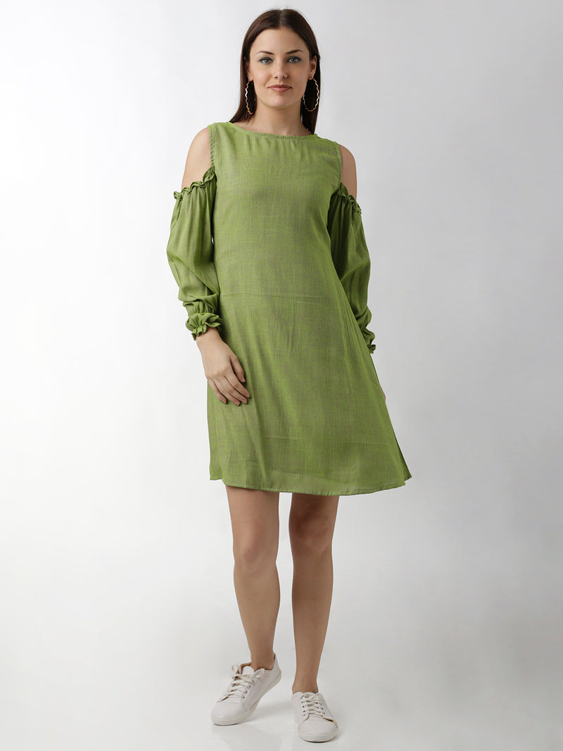 Green Flared Dress
