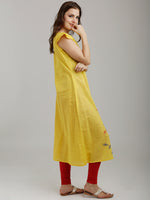 Breya Embroidered Short Stylised Sleeved Yellow Kurta