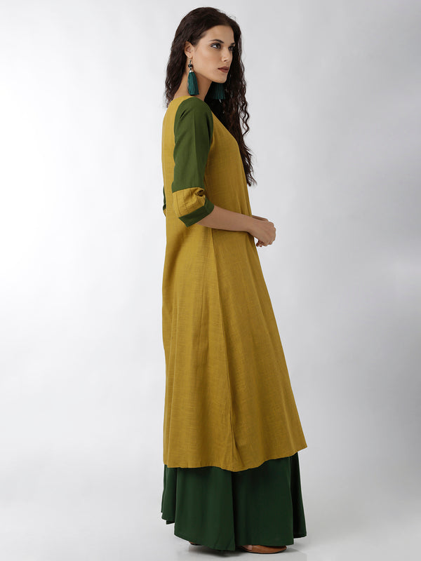 Green & Yellow Kurta