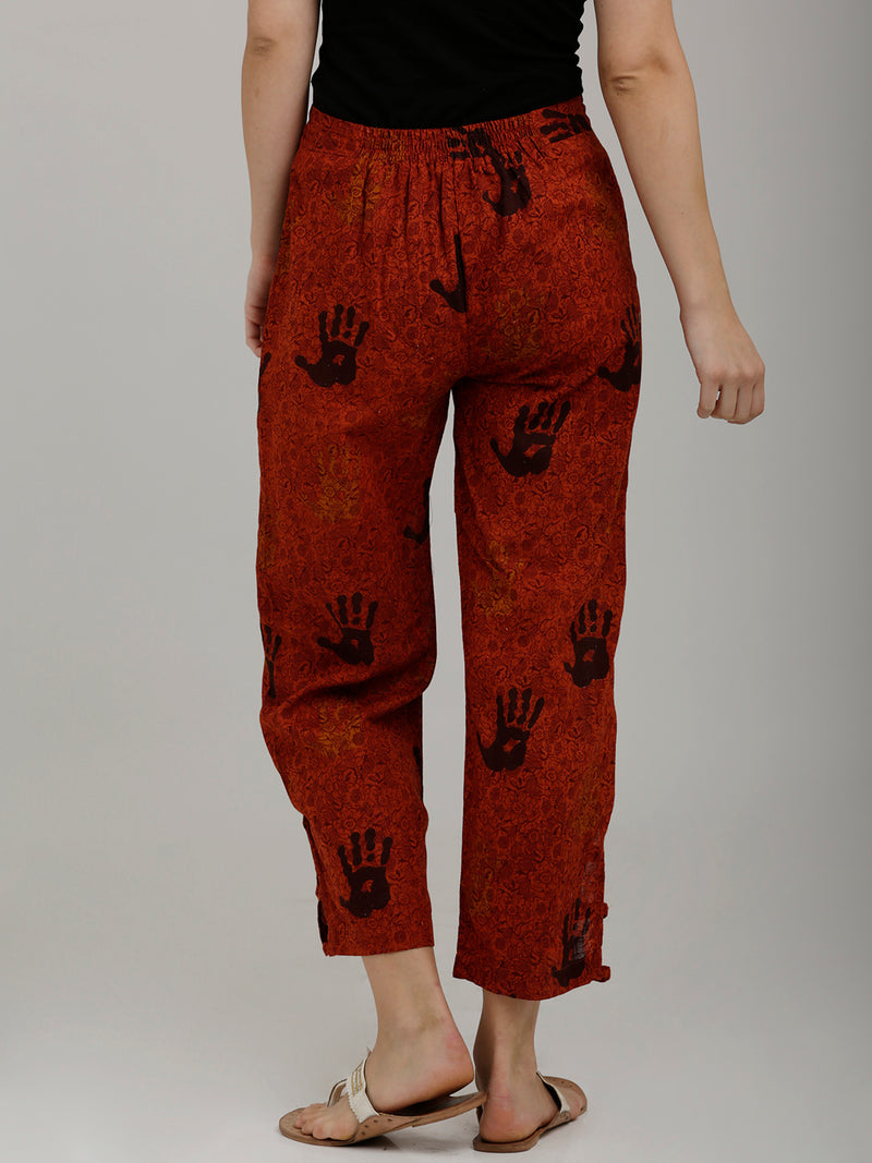 Brick Red Parallel Pants