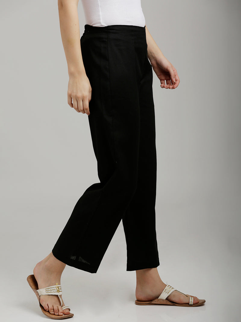 Solid Black Parallel Pants