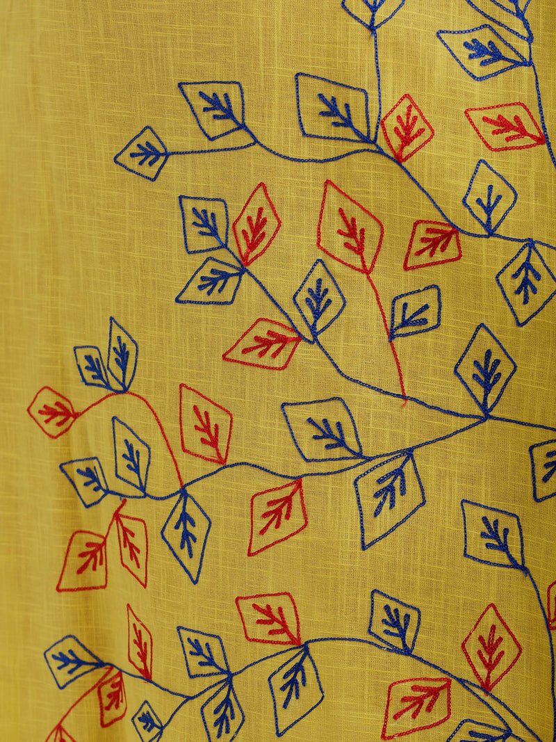 Embroidered Yellow Kurta