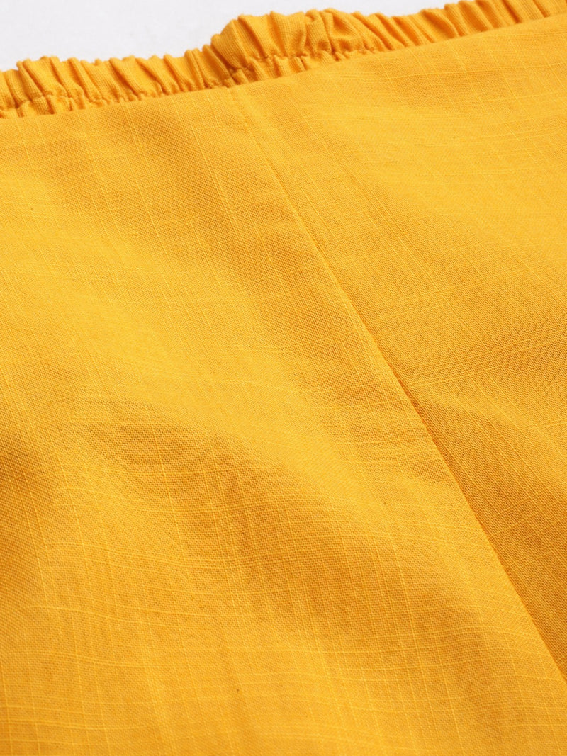 Mustard Yellow Narrow Pants