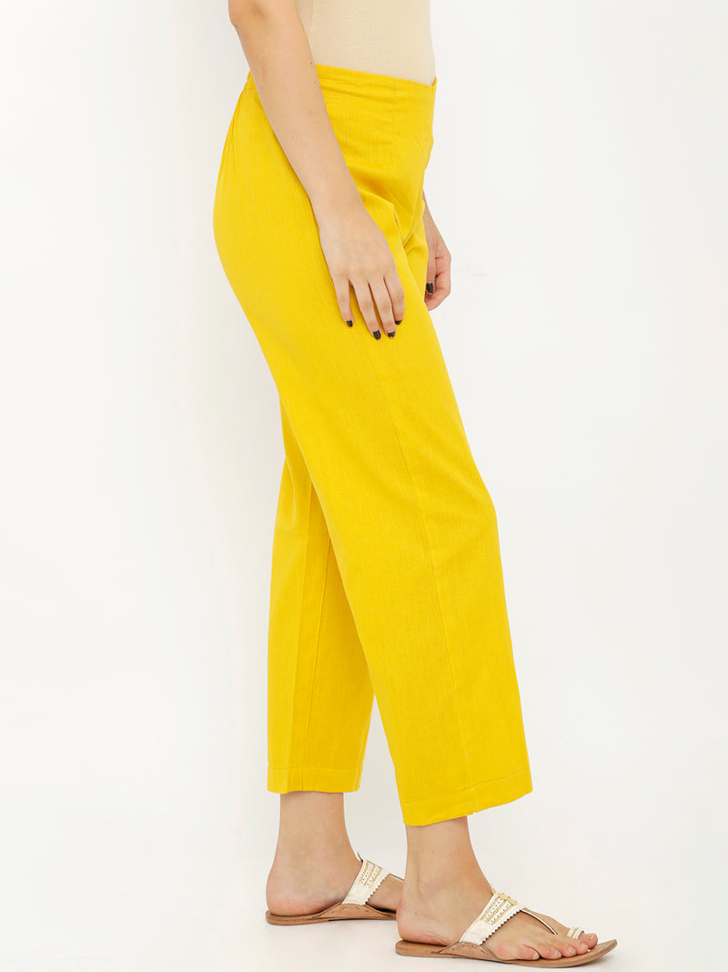 Yellow Parallel Pants