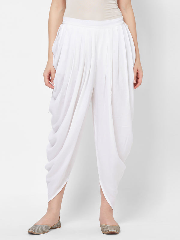 Off White Dhoti Pants