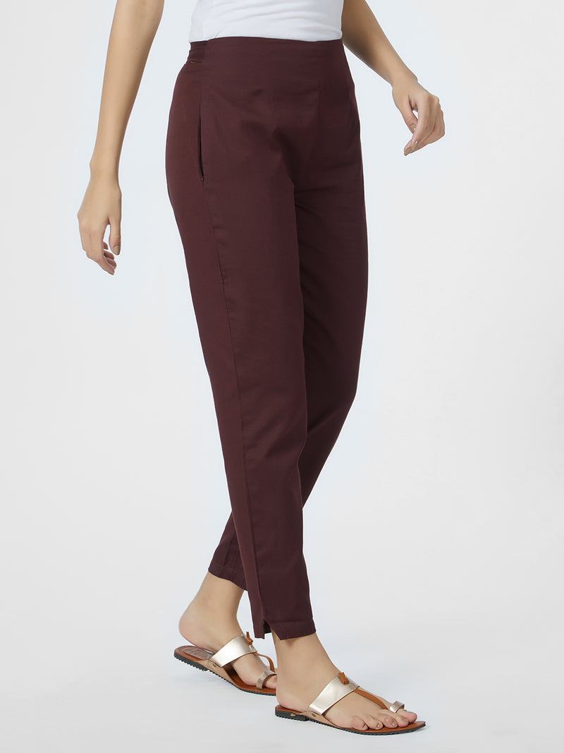 Brown Narrow Pants