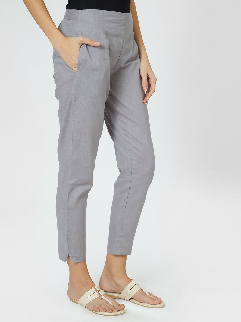 Narrow Dark Grey Pants