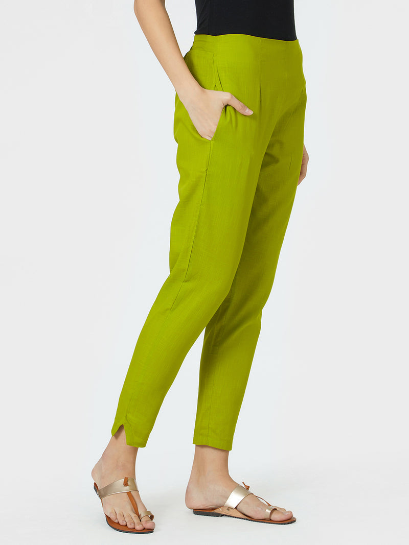 Narrow Green Pants