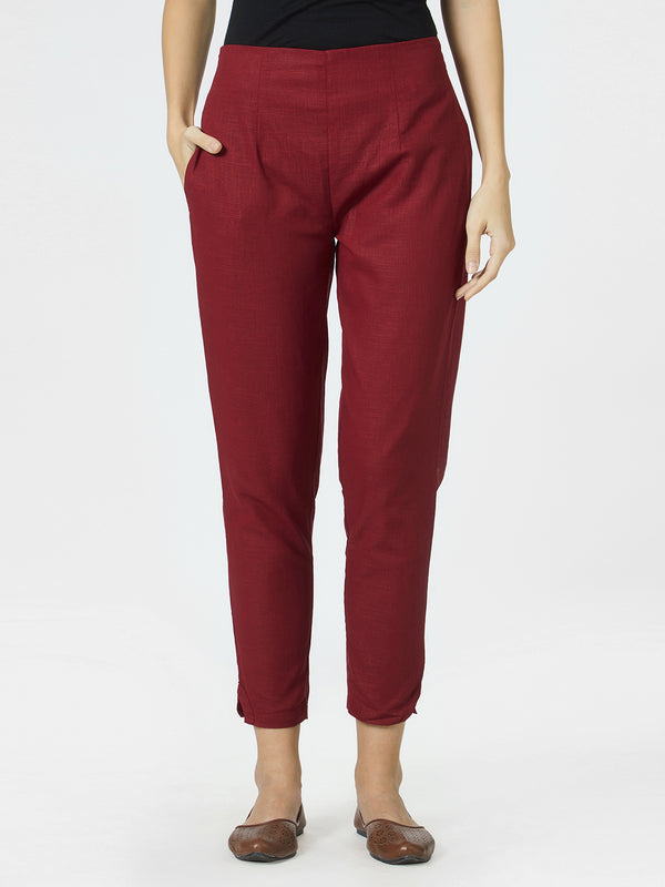 Maroon Narrow Pants