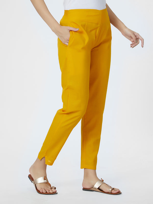 Mustard Narrow Pants