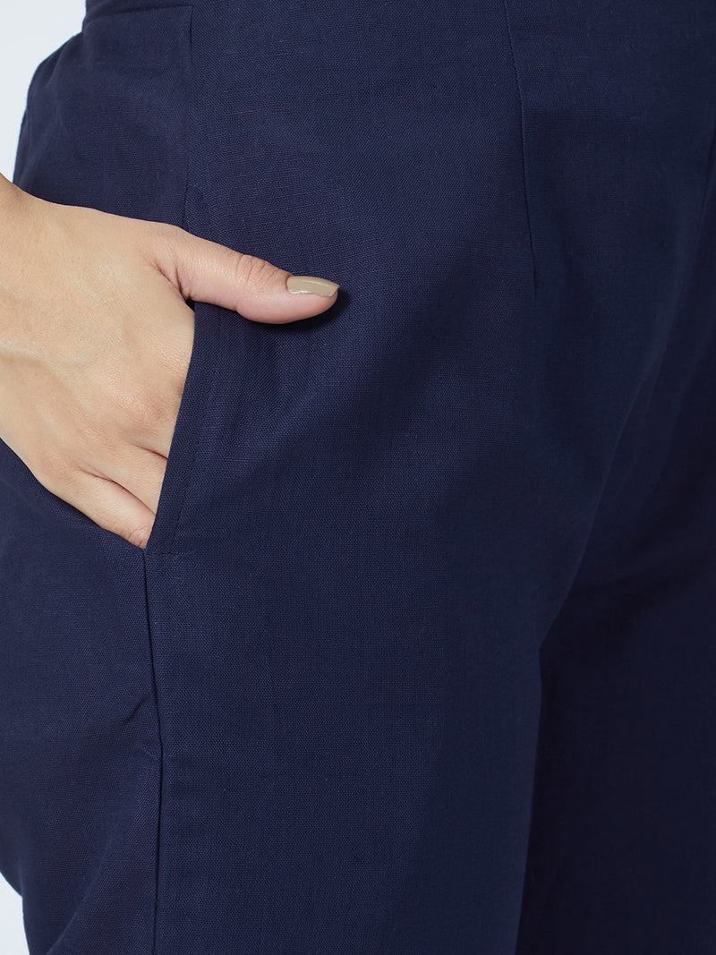 Narrow Navy Blue Pants