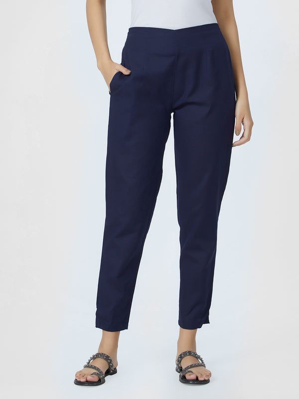 Navy Blue Narrow Pants