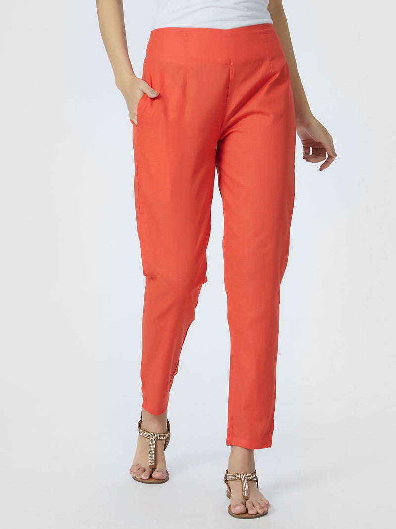 Peach Narrow Pants