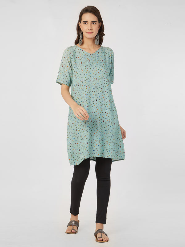 Printed Pastel Green Tunic