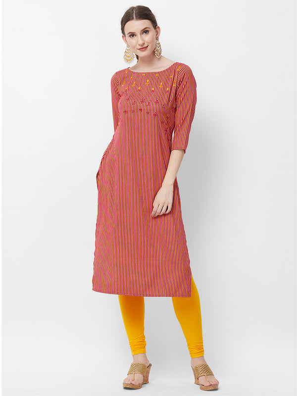 Magenta Stripes Kurta