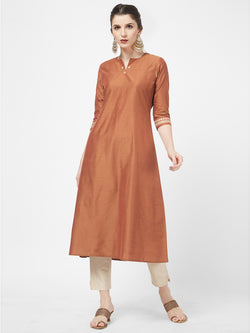 Brown Kurta