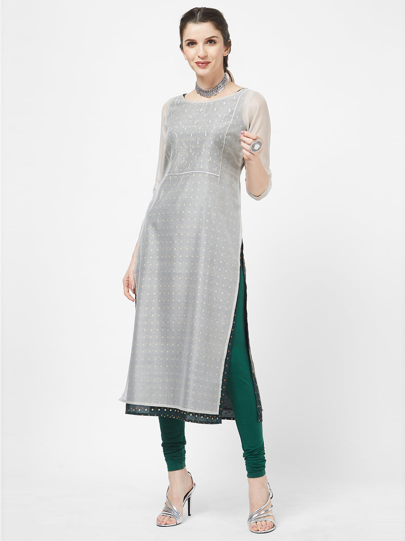 Grey Layered Kurta