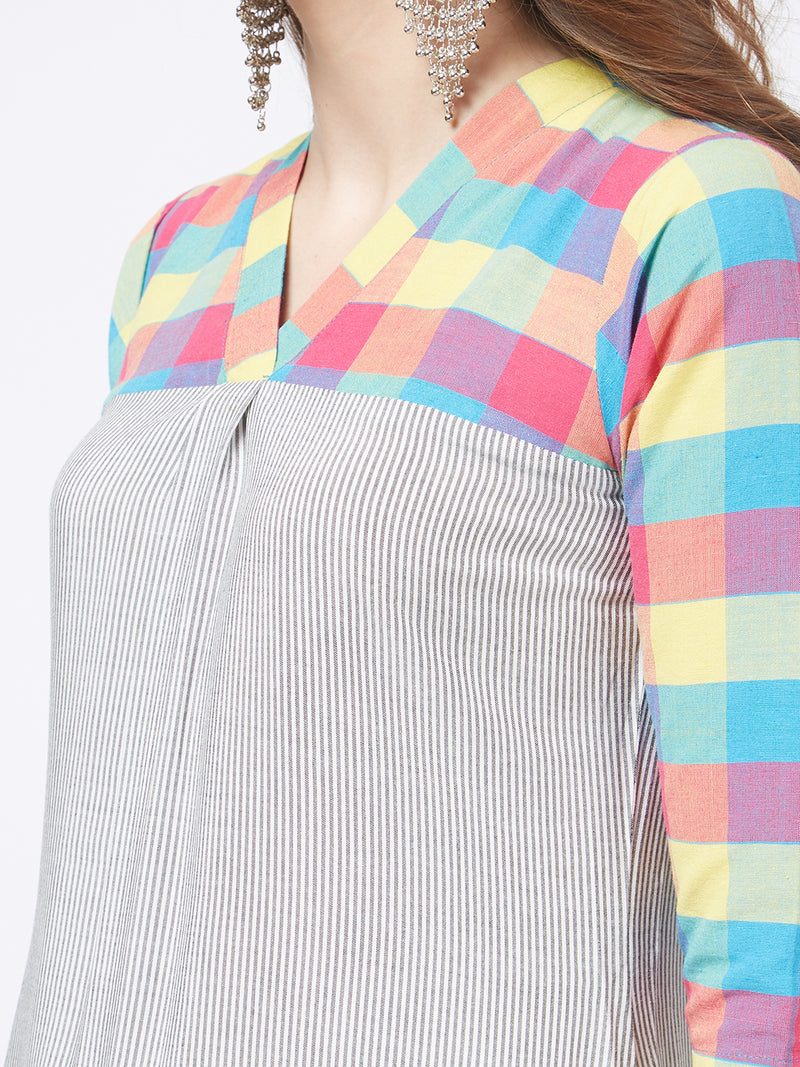 Multicoloured Striped Kurta