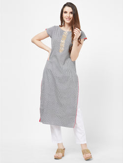 Monochrome Checks Kurta