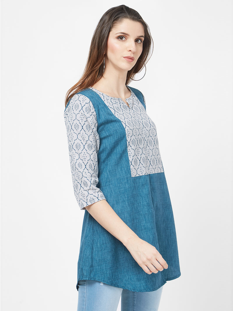 Blue Printed Tunic