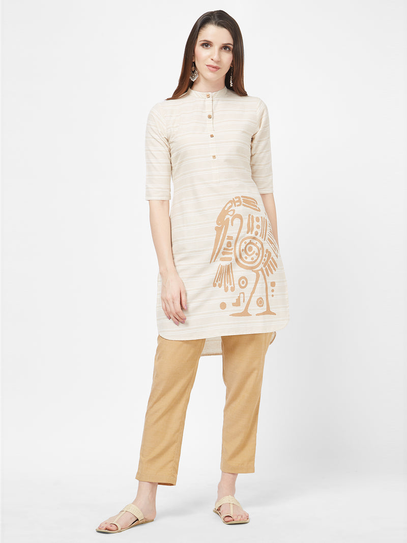 Cream Printed Tunic