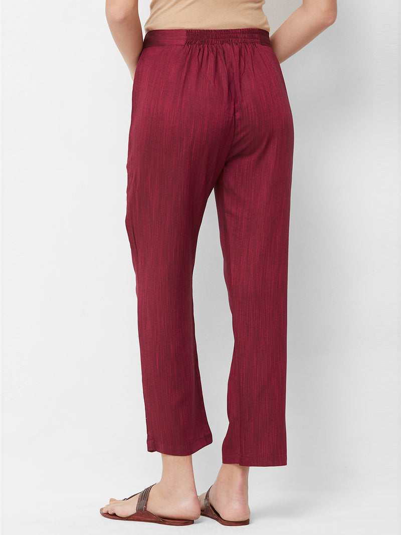 Deep Pink Parallel Pants