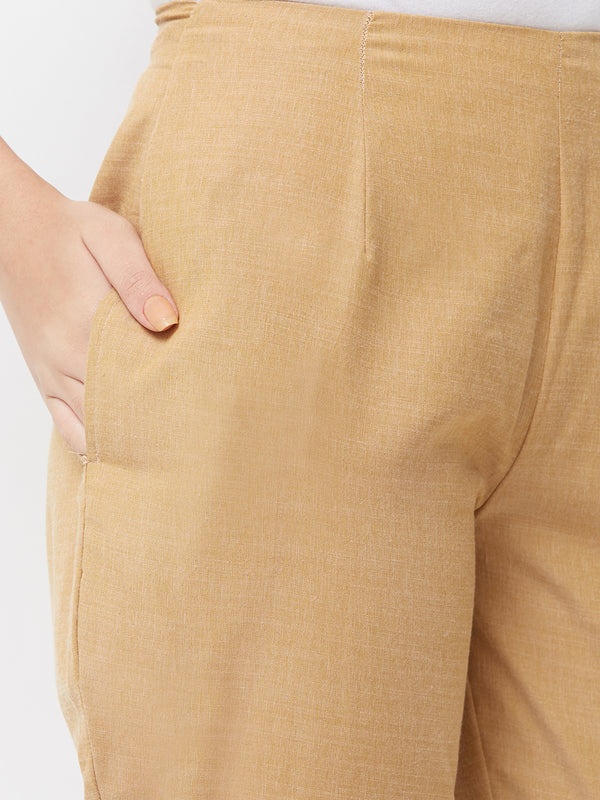 Beige Narrow Pants