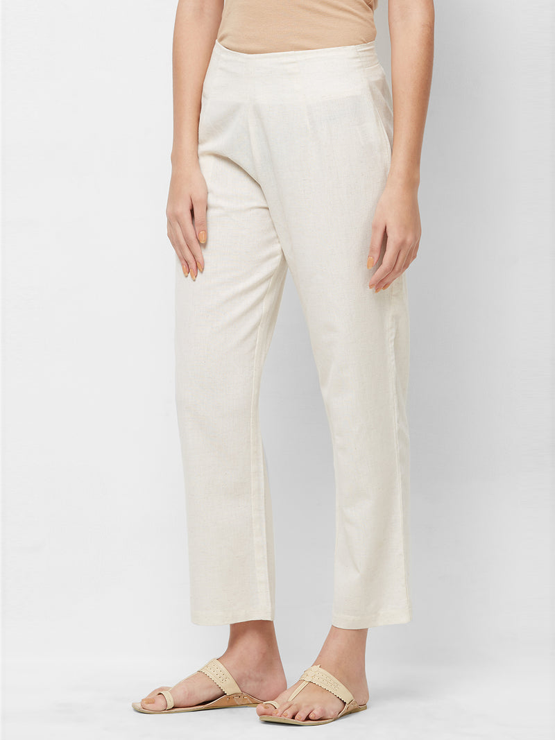Cream Parallel Pants